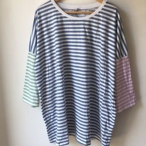 ASOS T-Shirt in Boxy Fit and Cut About Stripe